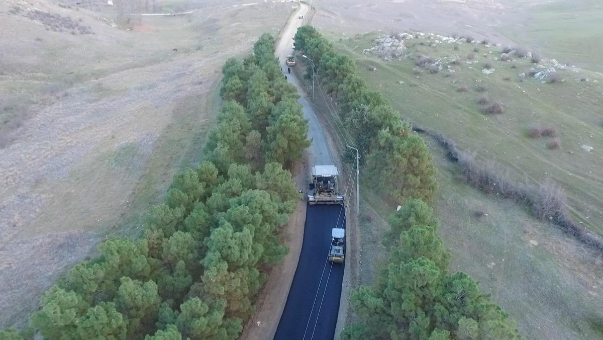 Daşsalahlı-Ürkməzli-Dəmirçilər avtomobil yolu yenidən qurulub (FOTO)