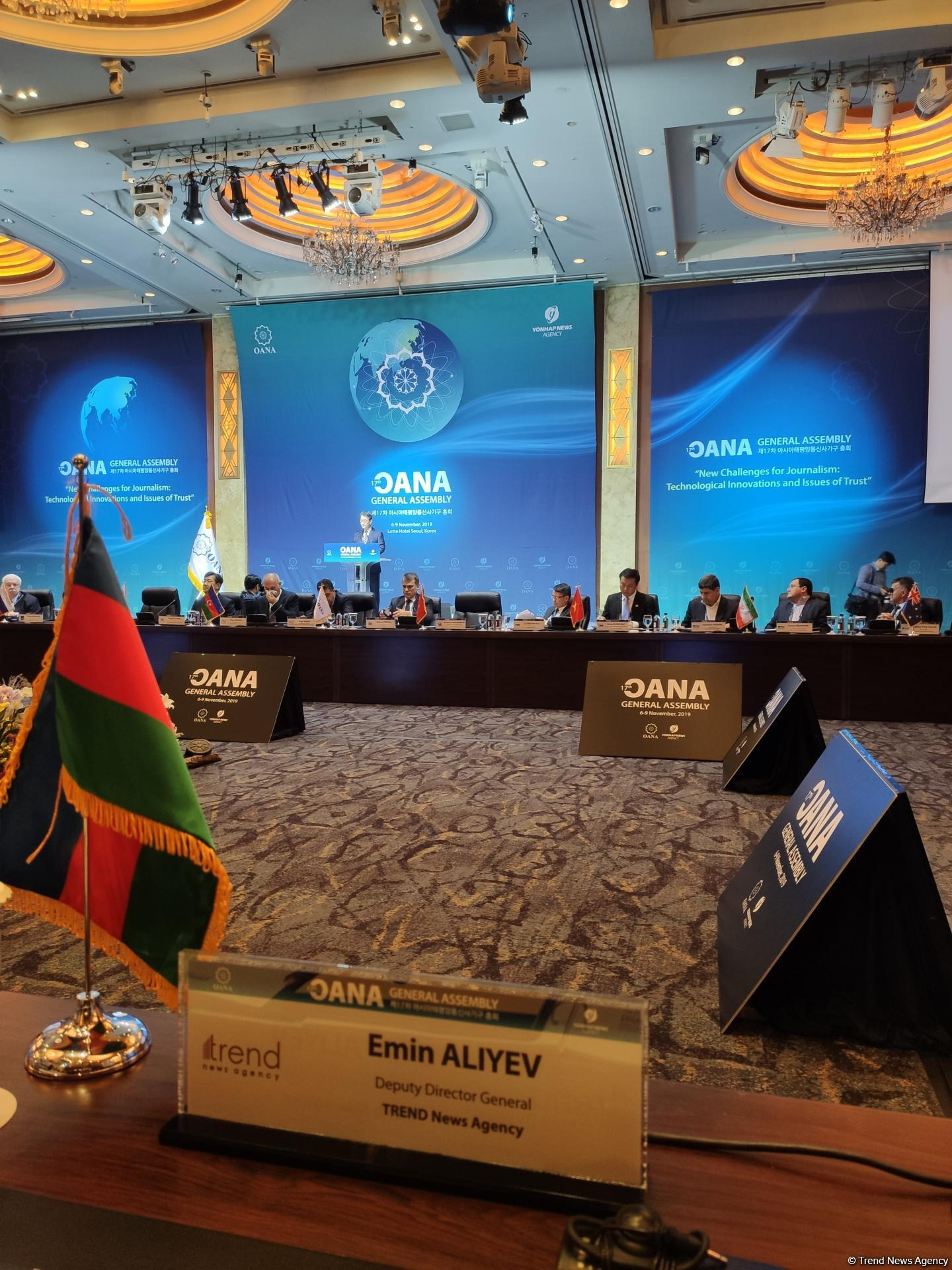Trend News Agency taking part in 17th OANA General Assembly in Seoul (PHOTO)