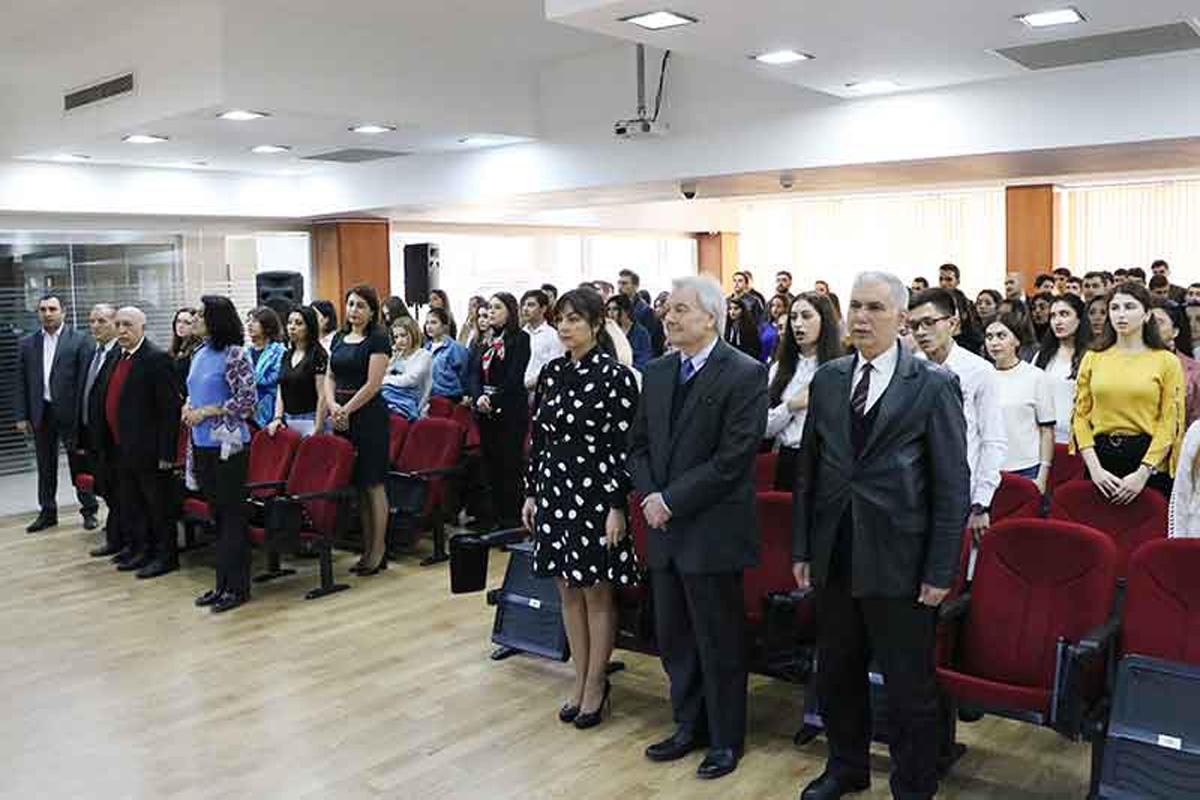 Azərbaycan Universitetində Dövlət Bayrağı Günü qeyd olunub (FOTO)