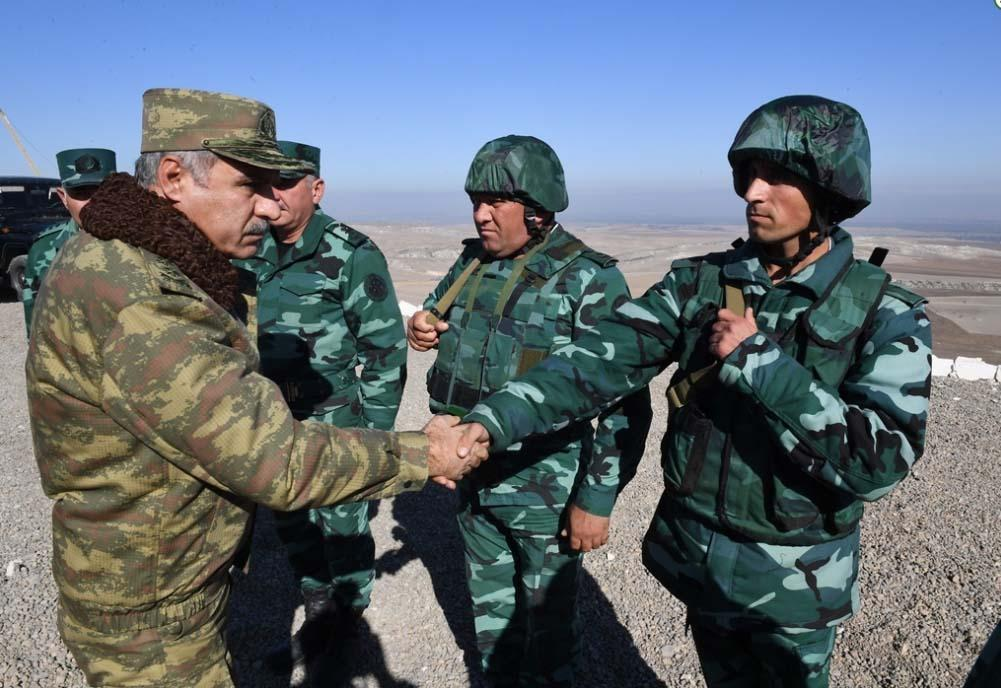 Azerbaijan's border service head, military prosecutor visit state border with Armenia (PHOTO)