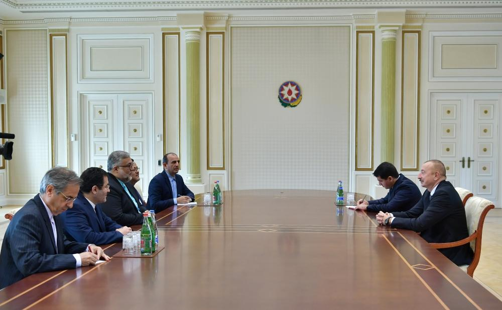 Ilham Aliyev receives delegation led by head of Iran's Culture and Islamic Communications organization (PHOTO)