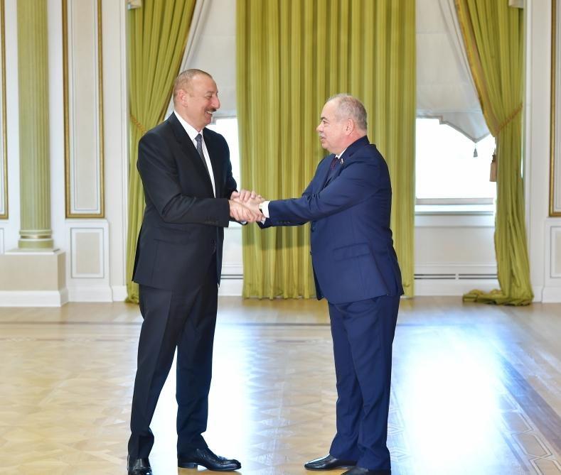 President Aliyev receives deputy chairman and committee chair of Russia, chairman and adviser to chairman of People's Assembly of Dagestan (PHOTO)