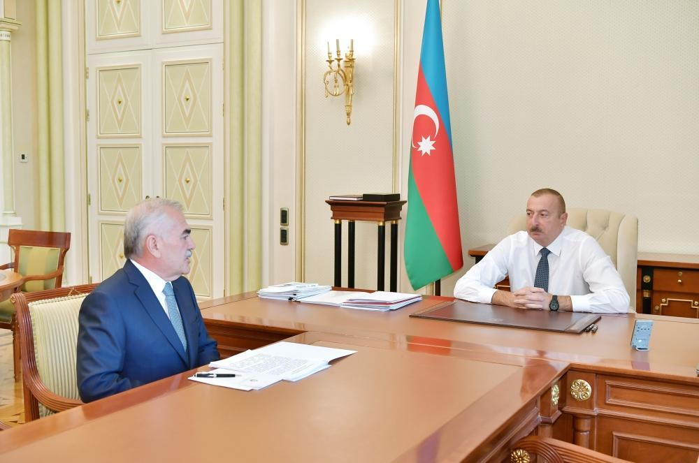 Azerbaijani president receives head of Supreme Majlis of Nakhchivan Autonomous Republic (PHOTO)