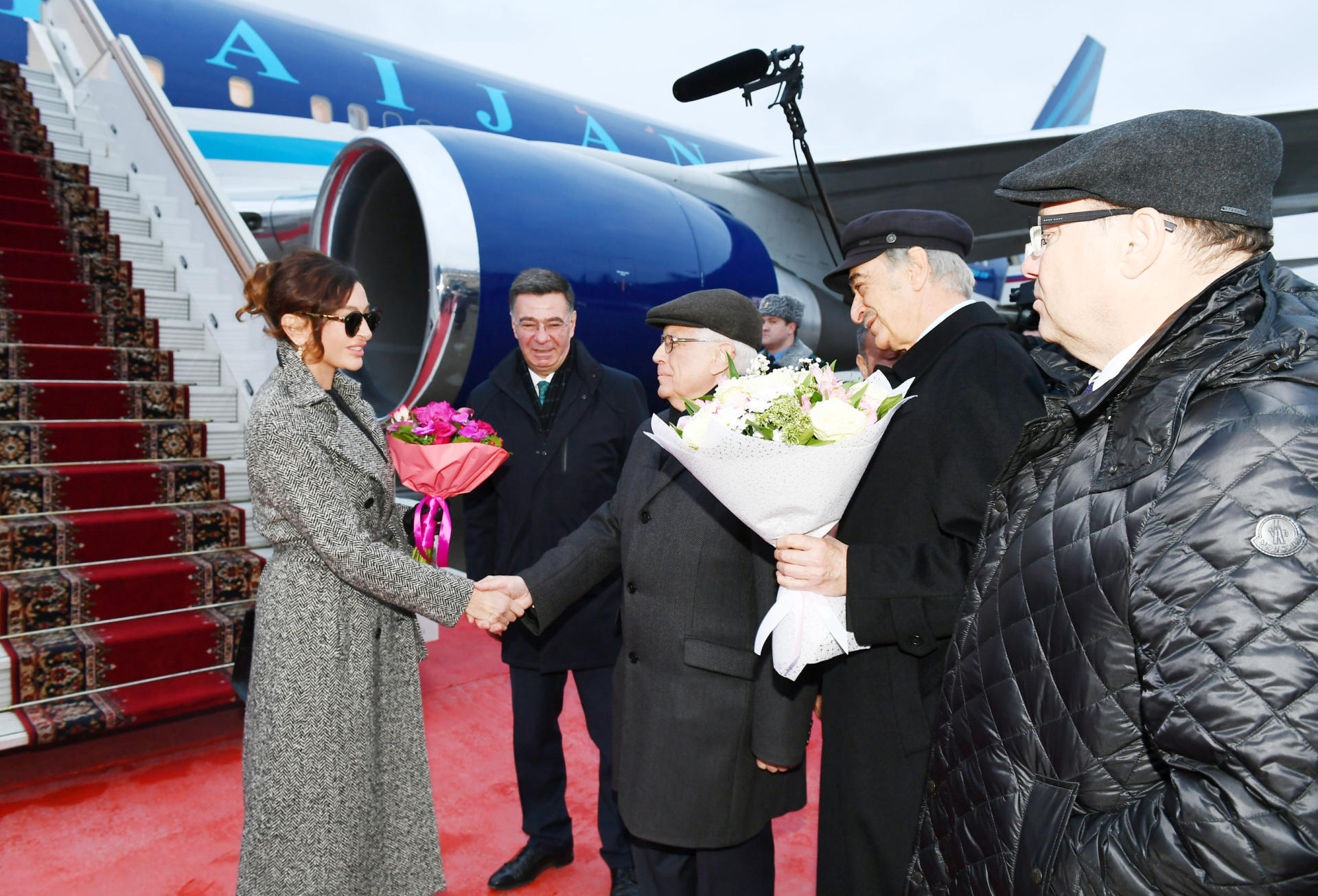 Azerbaijan's First VP Mehriban Aliyeva arrives in Russia for official visit (PHOTO)
