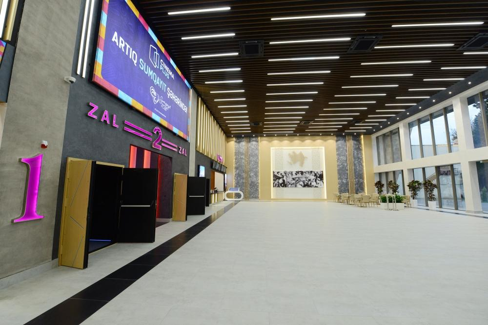 Azerbaijani president inaugurates new building of Nizami cinema in Sumgayit (PHOTO)