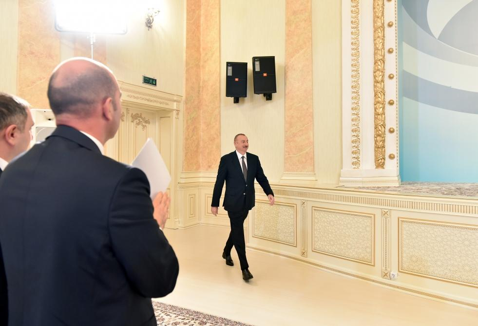 President Ilham Aliyev attends event marking 70th anniversary of Sumgayit (PHOTO)