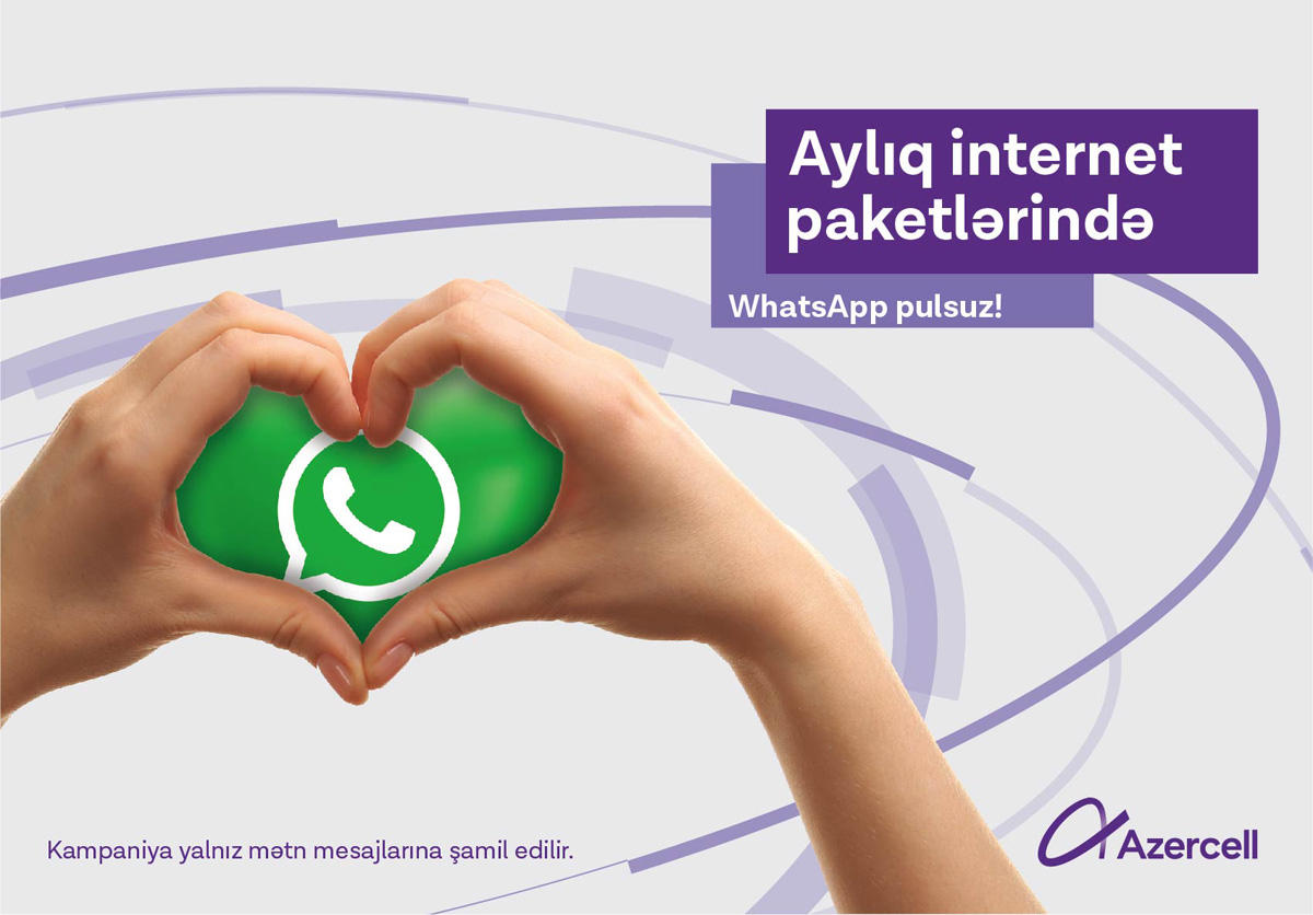 Unlimited WhatsApp texting with Azercell!