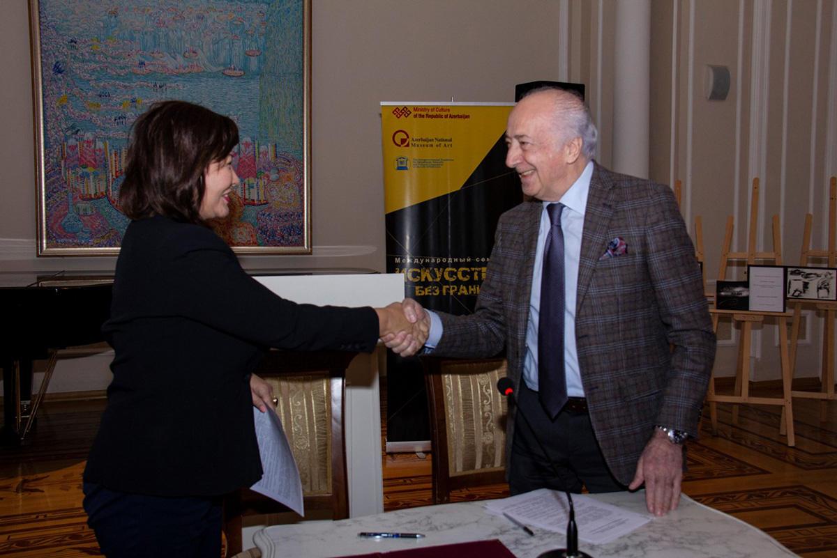 Искусство без границ: Чингиз Фарзалиев и Гульмира Шалабаева договорились о сотрудничестве (ФОТО)