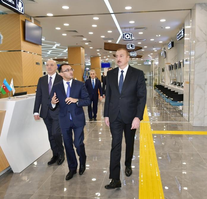Azerbaijani president attends opening of ASAN Hayat complex in Shamakhi (PHOTO)