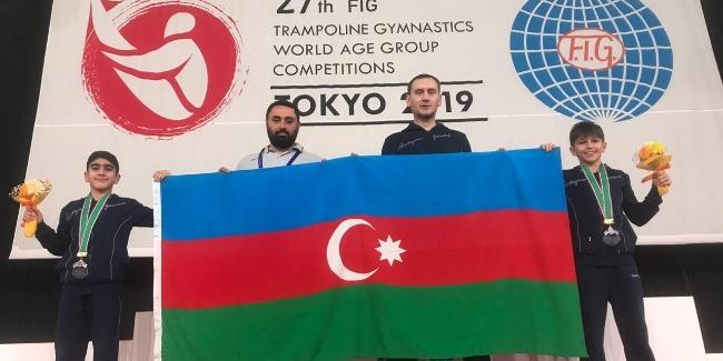 Azerbaijani trampoliners become silver medalists for first time in country's gymnastics history (PHOTO)