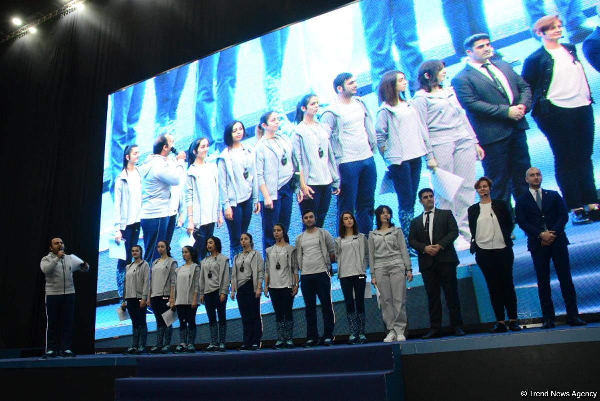 В Национальной арене гимнастики проходят эстафетные соревнования Федерации гимнастики Азербайджана (ФОТО/ВИДЕО)